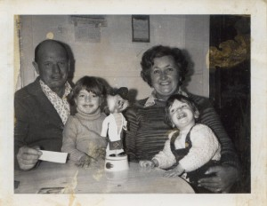 Image of Pop, Me, My Sister and Nan c. 1974